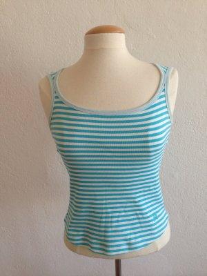 MEXX Top - Tshirt, ärmellos, blau weiß gestreift, Gr.M/38