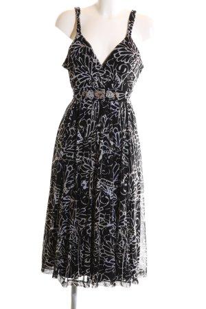 Mexx Trägerkleid weiß-schwarz abstraktes Muster Casual-Look