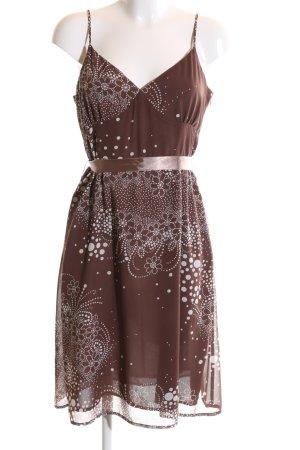 Mexx Trägerkleid bronzefarben-weiß Allover-Druck Elegant