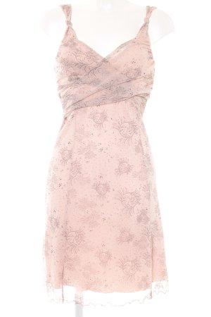Mexx Trägerkleid rosa-schwarz Punktemuster Casual-Look
