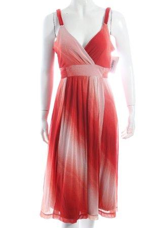 Mexx Trägerkleid rot-weiß abstraktes Muster