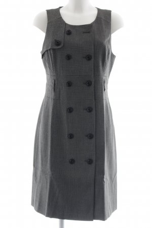 Mexx Trägerkleid schwarz-weiß Business-Look