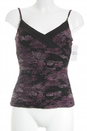 Mexx Strappy Top black-lilac floral pattern casual look