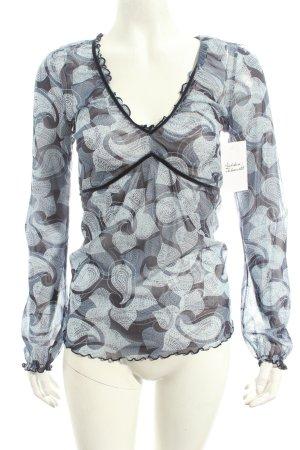 Mexx Transparenz-Bluse abstraktes Muster Street-Fashion-Look