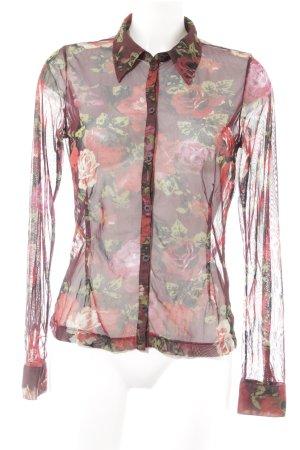 Mexx Transparenz-Bluse Blumenmuster Romantik-Look