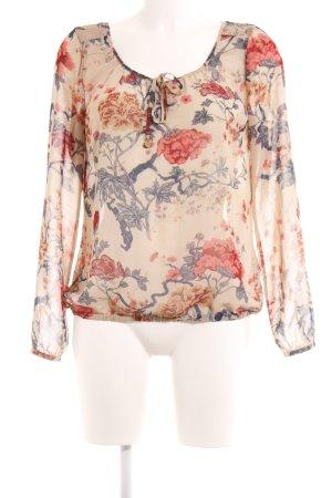 Mexx Transparenz-Bluse florales Muster Elegant