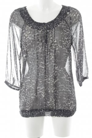 Mexx Transparenz-Bluse Leomuster Animal-Look