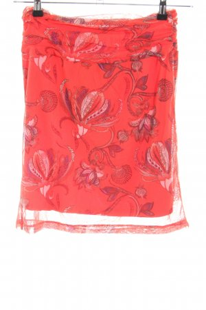 Mexx Tulle Skirt red-pink flower pattern casual look