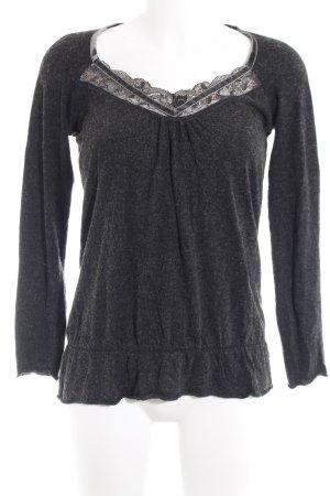 Mexx V-Ausschnitt-Pullover anthrazit Casual-Look
