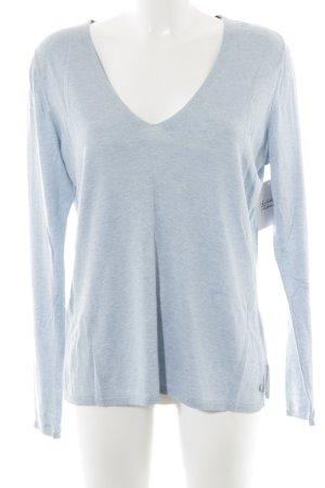 Mexx V-Ausschnitt-Pullover himmelblau meliert Casual-Look