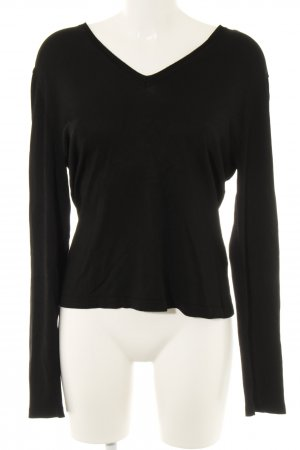 Mexx V-Ausschnitt-Pullover schwarz Casual-Look