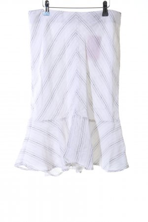 Mexx Flounce Skirt white-light grey striped pattern casual look