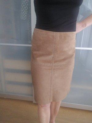 Mexx Leather Skirt bronze-colored