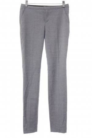 Mexx Woolen Trousers dark blue-white weave pattern business style