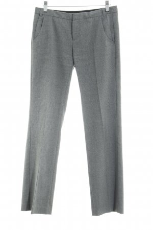 Mexx Woolen Trousers grey-black striped pattern business style