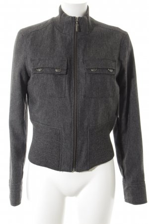 Mexx Wolljacke anthrazit Webmuster Casual-Look