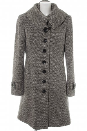 Mexx Wool Coat black-white check pattern casual look