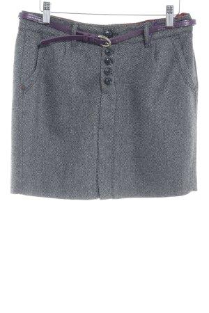 Mexx Gonna di lana grigio scuro-nero puntinato stile casual