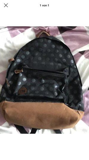 Mi Pac Rucksack Schulrucksack schwarz Punkte Dots wie neu