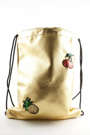 mi pac Canvas Bag gold-colored glittery