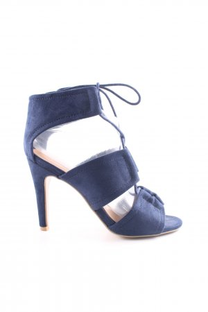 Mia & Jo Schnür-Pumps blau Casual-Look