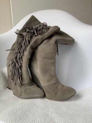 Mia Botas con cordones gris Cuero