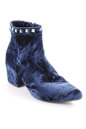 Mia & Tua Booties silver-colored-dark blue extravagant style
