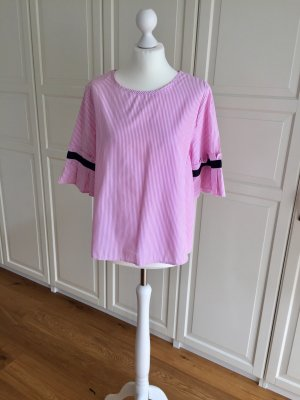 Miao Miao Bluse rosa weiß gestreift L