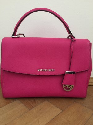 Michael Kors Sac Baril rose cuir
