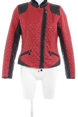 Micha Bikerjacke rot-schwarz Colourblocking Casual-Look