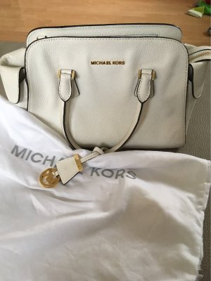 Michael Kors Bowling Bag natural white leather