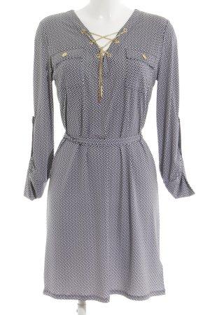 Michael Kors A-Linien Kleid weiß-schwarz Allover-Druck Elegant