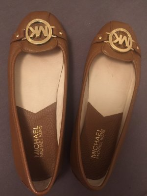 Michael Kors Mary Jane Ballerinas brown-gold-colored