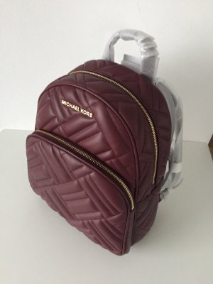 Michael Kors School Backpack gold-colored-bordeaux leather