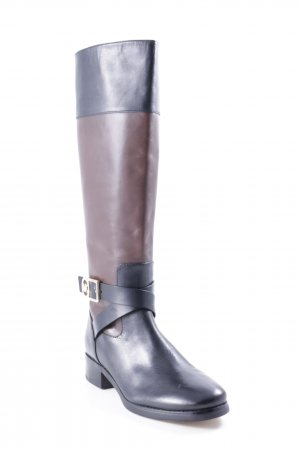 Michael Kors Laarzen met hak zwart-grijs-bruin klassieke stijl