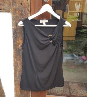 Michael Kors Sleeveless Blouse black-silver-colored polyester