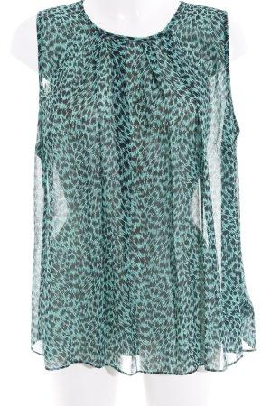 Michael Kors ärmellose Bluse schwarz-grün abstraktes Muster Casual-Look