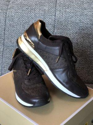 Michael Kors Sneaker stringata marrone-nero-oro