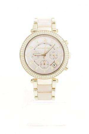 "Michael Kors Analoguhr ""Parker Pavé Acetate Watch Gold-Tone Rose"""