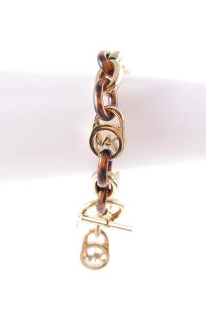 Michael Kors Armband goldfarben-hellbraun Street-Fashion-Look