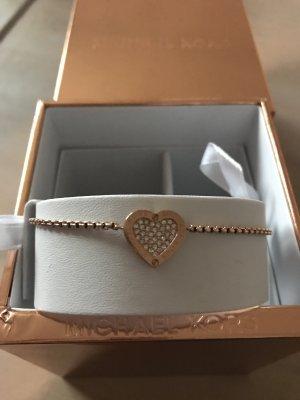 Michael Kors Armband Roségold mit einem Herz mit Steinen neu