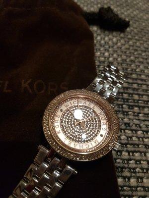 Michael Kors Horloge met metalen riempje zilver-roségoud