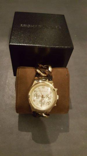 Michael Kors Reloj analógico marrón arena-marrón oscuro acero inoxidable