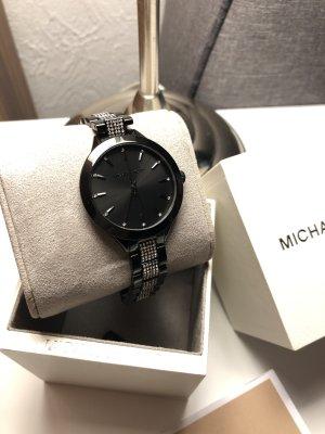 Michael Kors Orologio con cinturino di metallo nero-bianco