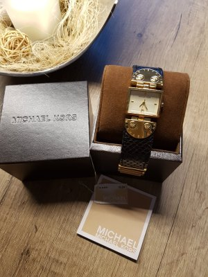 Michael Kors Armbanduhr Leder schwarz gold