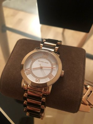Michael Kors Armbanduhr Rosé Gold mit Steinen besetzt