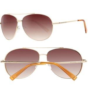 Michael Kors Aviator Damen-Sonnenbrille 62 12 125 Gold