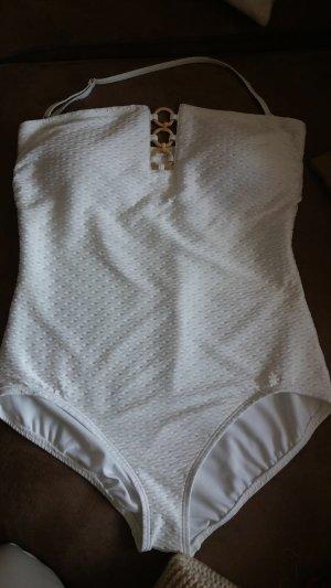Michael Kors Traje de baño blanco-blanco puro tejido mezclado