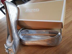 Michael Kors Ballerinas Echtleder Silber Gr. 40 ♡Neu ♡ OVP