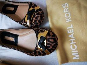 Michael Kors Ballerinas Fell mit goldenem Logo 36,5